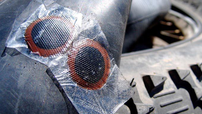 ファットバイクのパンク修理