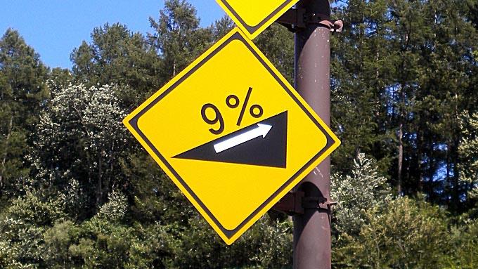 道路標識『坂道』
