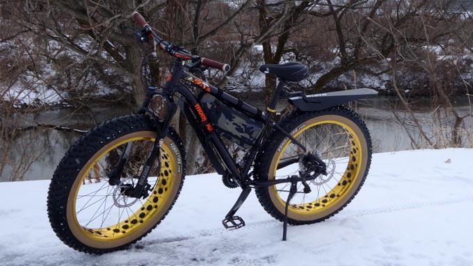 雪景色・ファットバイク