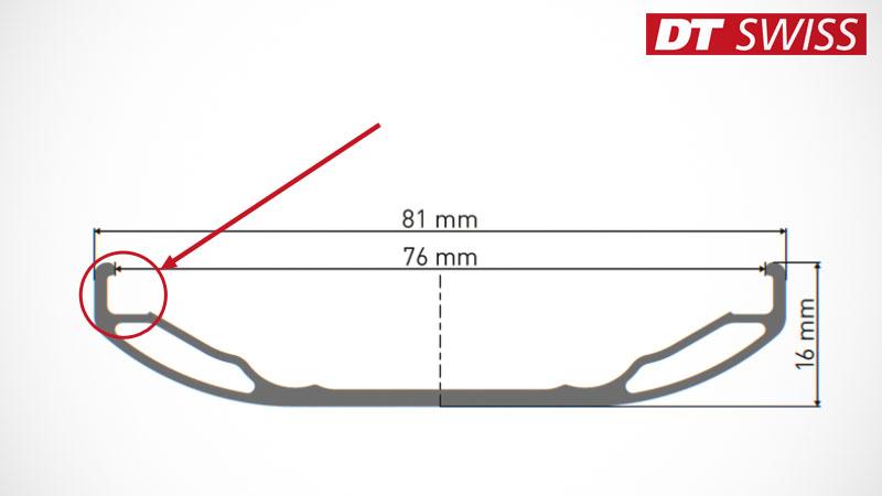 """DT Swiss製ファットバイク用軽量ホイール""""BR 2250 CLASSIC""""イメージ03"""
