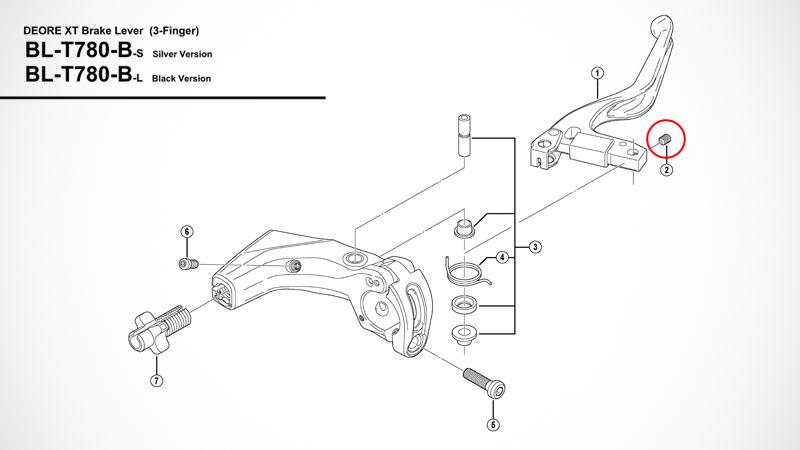 """『パンダカラーの""""DeoreXT BL-T780″をシマノ補修パーツでブラック化』イメージ03"""