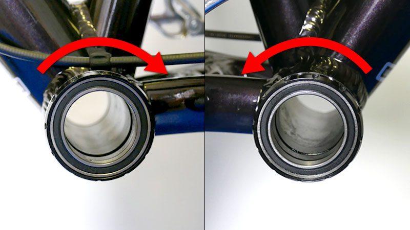 ファットバイクのフロントシングル化『カーボンクランク&BBへの交換』イメージ10