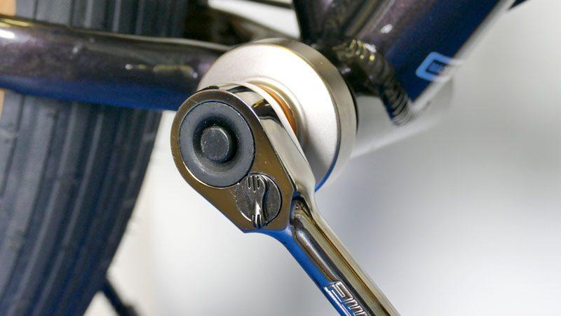 ファットバイクのフロントシングル化『カーボンクランク&BBへの交換』イメージ11