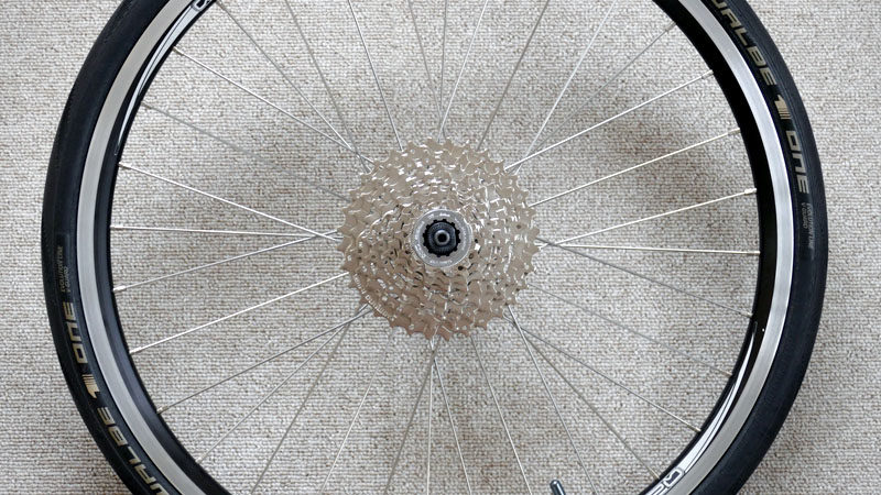 ミニベロのフロントシングル化で10速チェーン&ワイドコグに交換イメージ06