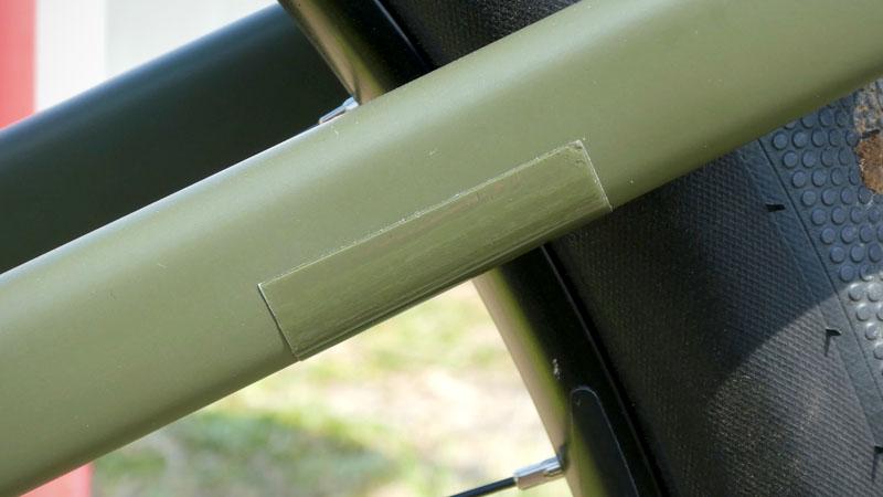 つや消し・マット塗装の自転車フレームに使える保護テープ2種類の比較テストイメージ05