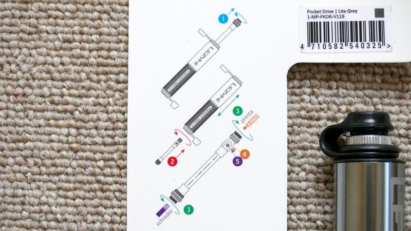 ホース付き携帯ポンプ『LEZYNE POCKET DRIVE/レザイン ポケットドライブ』の感想イメージ04