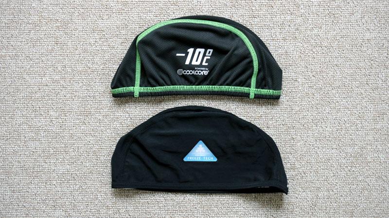 ヘルメットの汗・熱中症対策に冷却系インナーキャップ2種類を試すイメージ09