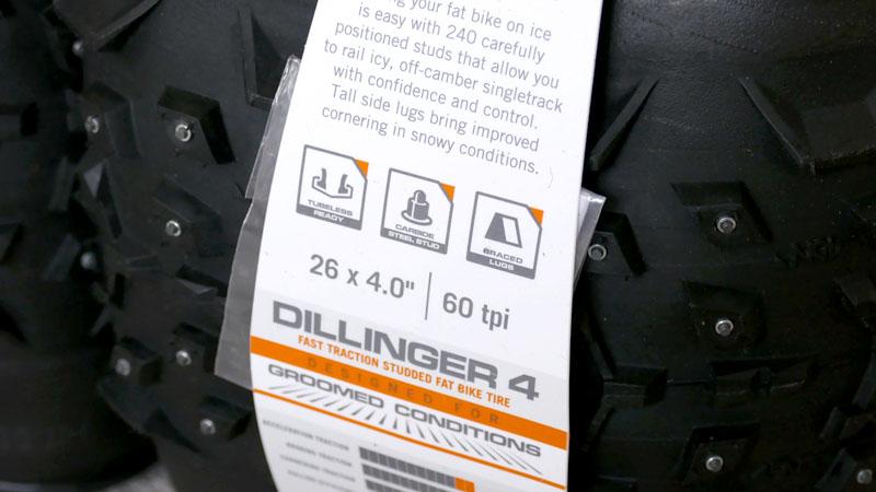 遂にスパイクタイヤ出陣!ファットバイクに『Dillinger4』を装備イメージ03