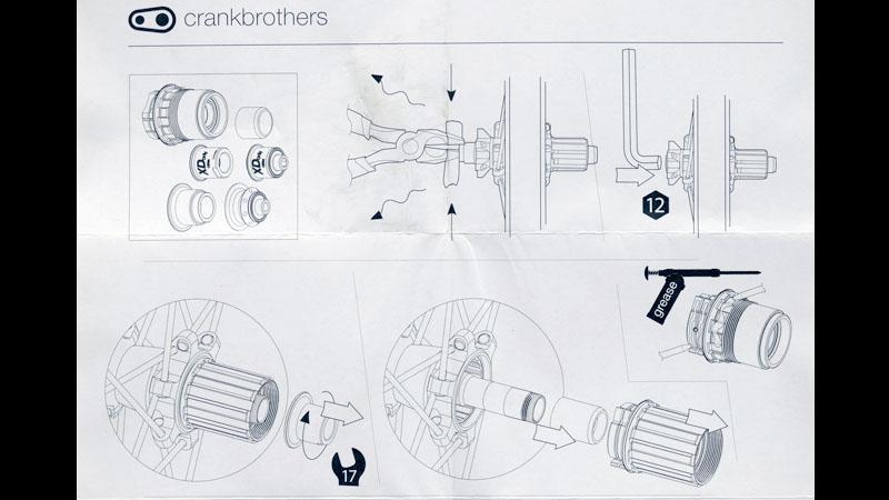 【クランクブラザーズ製ホイール】フリーハブボディをXDドライバーに交換する方法イメージ04