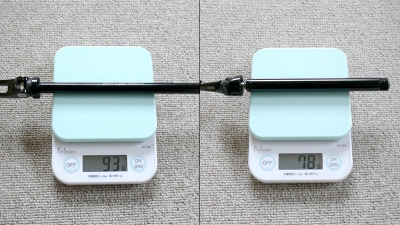 しっかり固定で利点も多し!スルーアクスルを軽量ボルト式に変更イメージ07