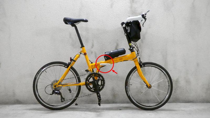 ガタつきは危険!折り畳み自転車の弱点『ヒンジ』の調整方法イメージ02