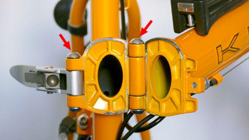 ガタつきは危険!折り畳み自転車の弱点『ヒンジ』の調整方法イメージ03
