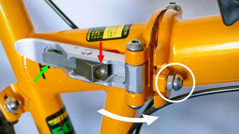 ガタつきは危険!折り畳み自転車の弱点『ヒンジ』の調整方法イメージ04